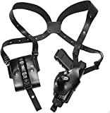 Craft Holsters FN FNS 40 Compact Compatible Holster - Vertical Roto Shoulder Holster System (71/22-BLK)