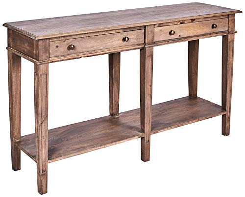 Better & Best 1741203 Consola madera con 2 cajones y balda abajo de madera, color: madera