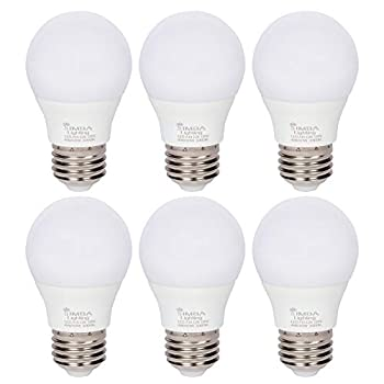 Simba Lighting LED A15 Refrigerator Light Bulbs  6-Pack  4W 40W Replacement Small for Appliances Freezers Ceiling Fans 120V E26 Standard Medium Base Frosted Cover Not Dimmable 3000K Soft White