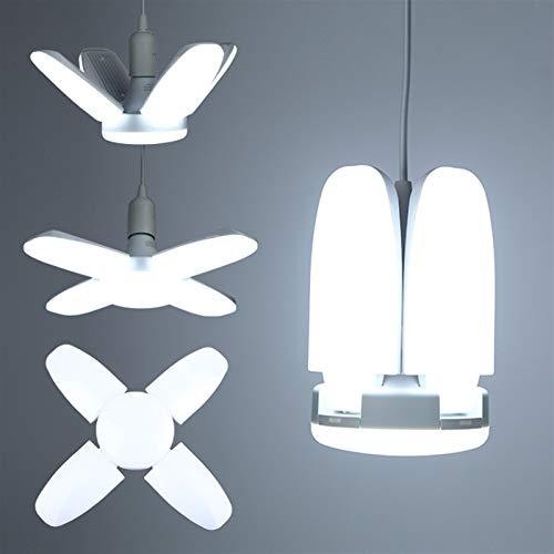 Iluminación de techo Bombilla LED E27 30/45 / 60W llevó la lámpara de techo Ventilador Lampada Led de luz 220V plegable de ángulo ajustable for la paleta del ventilador Inicio iluminación del garage I