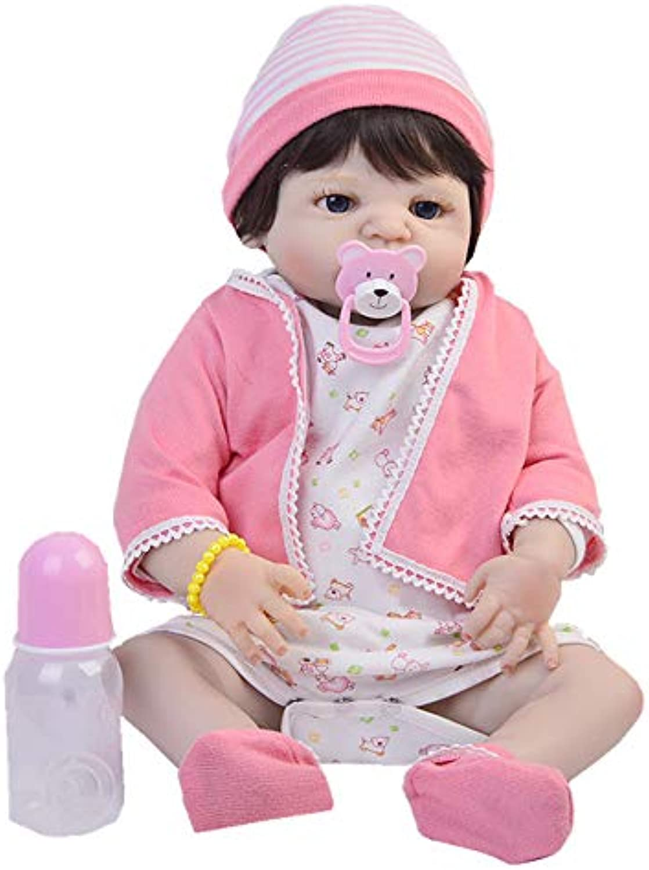 ZBYY Reborn Babys Volle Silikon Schnuller Mdchen Geschenke Baby Dolls Kinder Neugeborenes Spielzeug 22Zoll 57cm