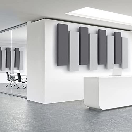 Acoustimac DMD Stagger Acoustic Panel Design Pack: 8 Pcs 8)4'x1'x2' 4-gray & 4-charcoal