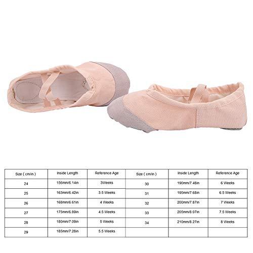 Balet buty do tańca, baletki, buty do tańca, 1 para dzieci miękkie płótno baletki buty do tańca pantofle do tańca(29)