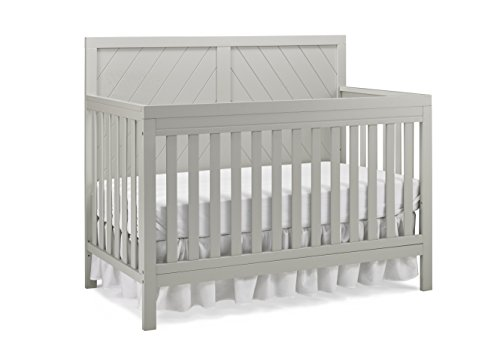 Fisher-Price Glendale 4-in-1 Convertible Crib, Cloud Grey
