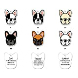 FURBB Dog ID Tags, Personalized Dog Tags Pet ID Tags Cute Unique Originality Design 99 Shapes Similar to Your Puppy, Name Tags Lightweight with up to 4 Lines of Custom Text Clear Easy to Read(2 Pack)