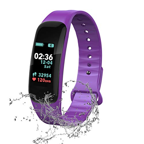 Fitness Tracker, Color Screen Activity Tracker with Blood Pressure Blood Oxygen,IP67 Waterproof...