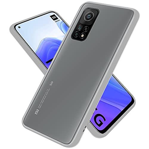 Cadorabo Custodia compatibile con Xiaomi Mi 10T / 10T Pro in Transparente Opaco - custodia per cellulare con interno in silicone TPU e retro in plastica opaca - cover protettiva ibrida
