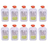 VOSAREA - 10 Botellas Reutilizables para Comida o compota y puré para Leche Materna
