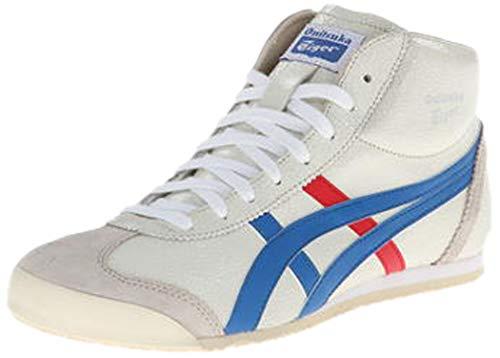 Onitsuka Tiger Mexico Mid Runner Fashion Sneaker,White/Blue,11 US/12.5 Women