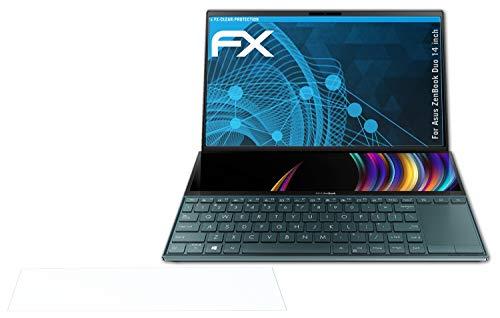 atFolix Schutzfolie kompatibel mit Asus ZenBook Duo 14 inch Folie, ultraklare FX Bildschirmschutzfolie (2er Set)
