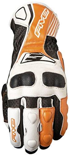 Fünf Advanced Handschuhe rfx4Replica Erwachsene Handschuhe, Weiß/Orange, Größe 10