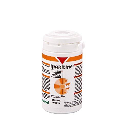 Vetoquinol Ipakitine Pulver 60g Dose - Ergänzungsfuttermittel für Katzen und Hunde zur Unterstützung der Nieren