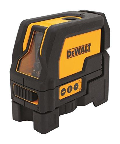 DeWalt DW0822 Kruislijnlaser met 2 lotpunten (rode laserdiode, zelfnivellerende, pulsmodus, laserklasse 2, IP 54, laserzichtbaarheid tot 15 m zonder detector, incl. 3x LR6 batterijen en koffer)