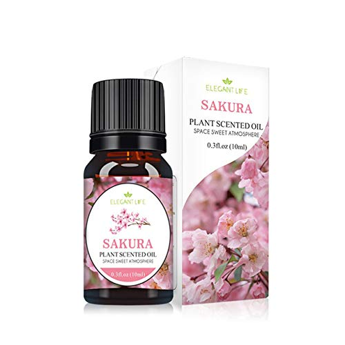 Uniqueheart Aceite Esencial Pure Natural Osmanthus Rose Natural 10Ml Aceites Esenciales Puros Difusores de Aromaterapia Air Fresh Care - Flores de Cerezo