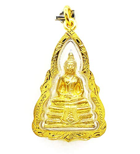 Phra Sothorn Pendant Charm Thai Buddha Amulet 22k Thai Baht Yellow Gold Plated Jewelry From Thailand