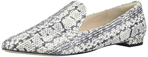 Cole Haan Women's Brie Skimmer Ballet Flat, Natural Python Print On Leather, 8.5 M US