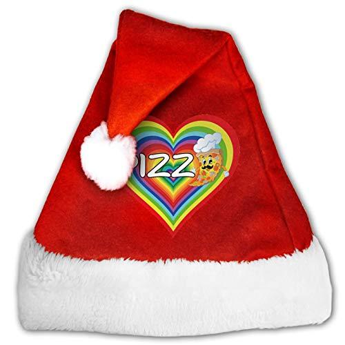 Gorro de Papá Noel unisex con diseño de Gatito, color rojo y blanco
