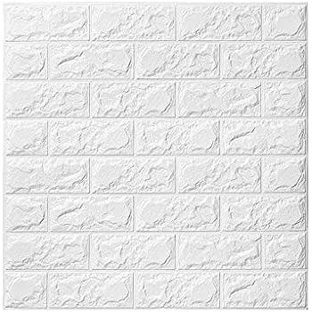 60 * 60cm DIY Auto-Adh/ésif Autocollants la Maison Chambre Stickers Muraux 3d Brique YTAT Papier Peint Briques 3d Cuisine Salon