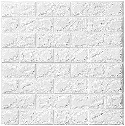Merveilleux 5 PCS 3D Papier Peint Brique ,autocollant De Mur De Mousse De PE Amovible  Et De Bâton De PE Pour Le Bureau à La Maison De Salon (blanc Brique 5  Pièce)   60 ...