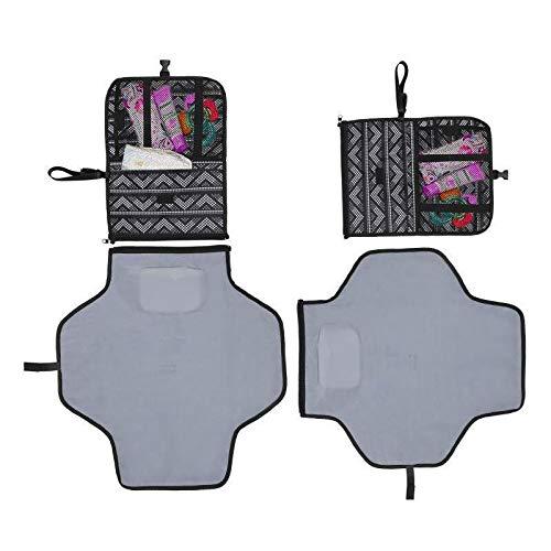 PetKids - Cambiador de viaje para bebé, extraíble con fundas protectoras de colchón, impermeable, perfecto para bebés, niños, adultos, viajes, paseos