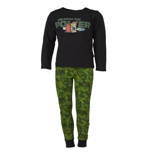 LEGO Wear Jungen CHIMA Schlafanzug/Pyjama ALEC 904, Gr. 104, Schwarz (995 BLACK)