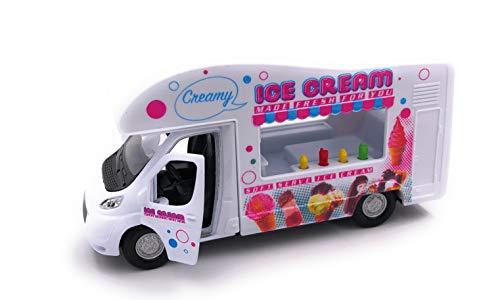 H-Customs Welly IJswagen Ice Cream ijsmann caravan modelauto auto camper 1:34-1:39