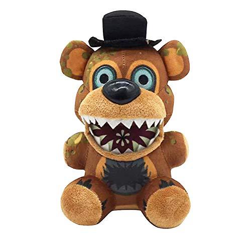 FNAF Plushies - All Characters(7') - (Twisted Ones Freddy) - Five Nights Freddy's Plush: Springtrap,Rabbit,Foxy, Bonnie,Marionette, Chica Plush - Freddy Plush - Fnaf Plush- Gifts For FNAF Fans