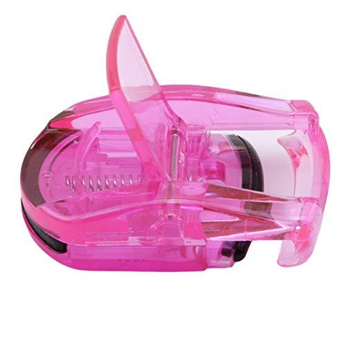 Sperrins 1 PC Portable Mini Bigoudi Cils Pocket Maquillage Clip Cils Tweezers Cils Curler Outils (rose rouge)