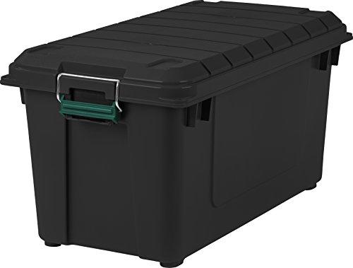 Remington 82 Quart WEATHERTIGHT Storage Box, Store-It-All Utility Tote, 4 Pack, Black 3