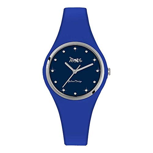 Reloj Mujer Toobe Boccadamo de Silicona antialérgica Azul Eléctrico, Abrazadera Silver y...