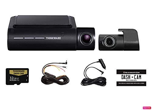 Thinkware f800Pro 2チャネルHDダッシュカメラIncluding 32gb micro sdカードwith Hardwiringキットとイ...