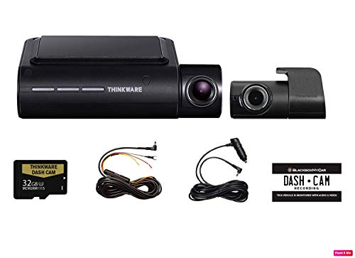 THINKWARE F800 PRO 2 Channel HD Dash Camera | 32GB Micro SD Card with Hardwiring Kit | Wifi Capability