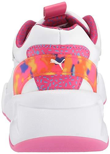 PUMA Women's NOVA X Barbie Sneaker, White-Cabaret, 7 M US