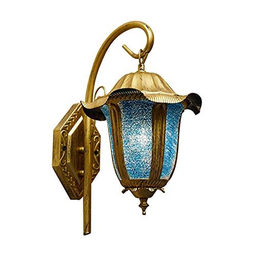 Lámpara de pared bohemia linterna luces de pared marroquí hecho a mano lámpara de noche de cristal para sala de estar, dormitorio, pasillo, balcón, café, decoración del hogar Lámparas
