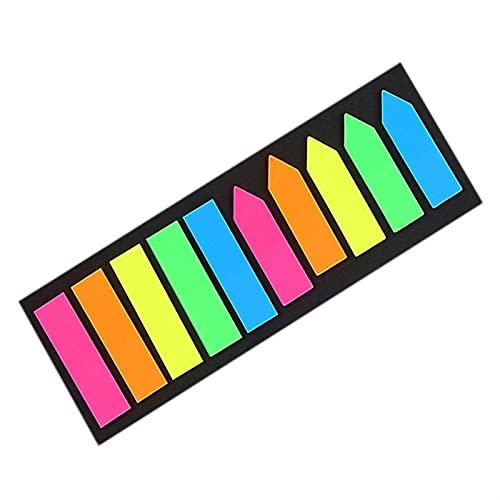 Sticky Notes 1 @ # Mini Memo Pad Marcadores Fluorescencia Self-Stick Notes índice Publicado en TI Planificador Papelería Suministros Escolares Pegatinas de papel (Color : A)