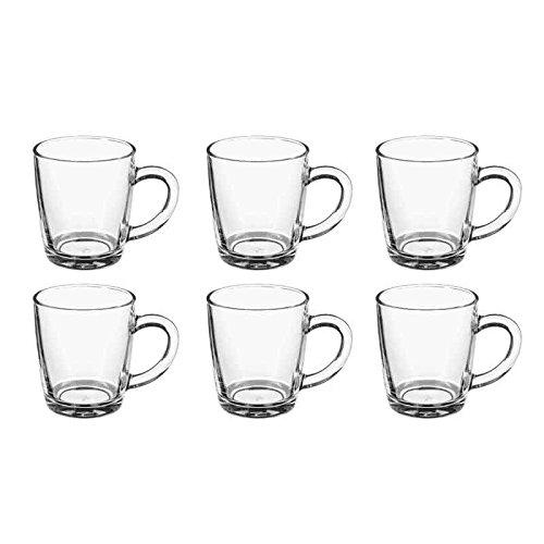 Secret de Gourmet - Lot de 6 Mugs en Verre\