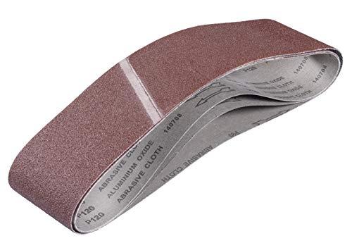 kwb by Einhell 3 Schleifbänder 100x915 mm Bandschleifer-Zubehör (Holz und Metall, ruhiger Bandlauf, für handelsübliche stationäre Bandschleifer geeignet)