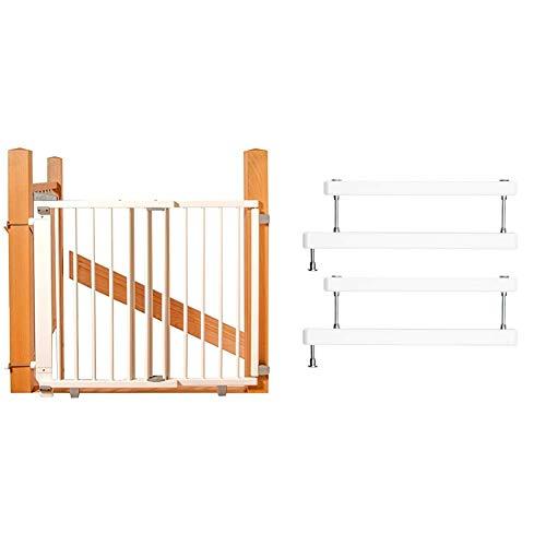 Geuther Treppenschutzgitter 2733+ weiß und zweite 2725ZK+ weiß zur optionalen Montage an zwei Geländerseiten