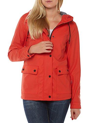 ONLY Damen onlVALIANT Raincoat OTW Regenmantel, Rot (Valiant Poppy), 40 (Herstellergröße: L)