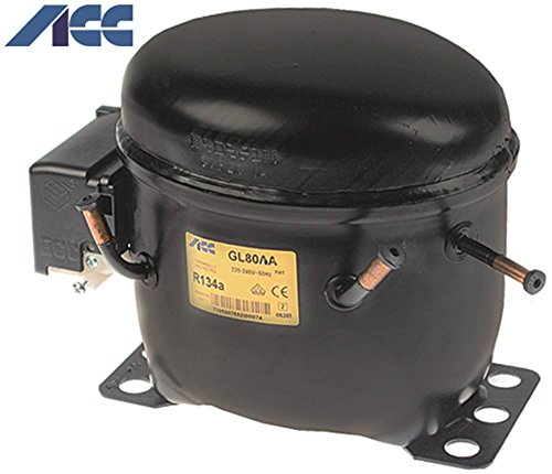 Compressore gl80aa 220–240V 50Hz refrigerante R134a LBP vollhermetisch 9kg 1/5HP Cilindrata 7,39cm³