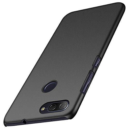 Asus Zenfone Max Plus Hülle, Anccer [Serie Matte] Elastische Schockabsorption & Ultra Thin Design für ZenFone Max Plus (M1) ZB570TL (Kies Schwarz)