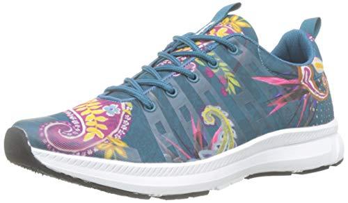 Desigual Damen Runner Ethnic Sneaker, Blau (Polar Blue 5049), 36 EU
