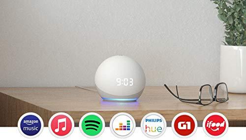 Novo Echo Dot (4ª geração): Smart Speaker com Relógio e Alexa - Cor Branca