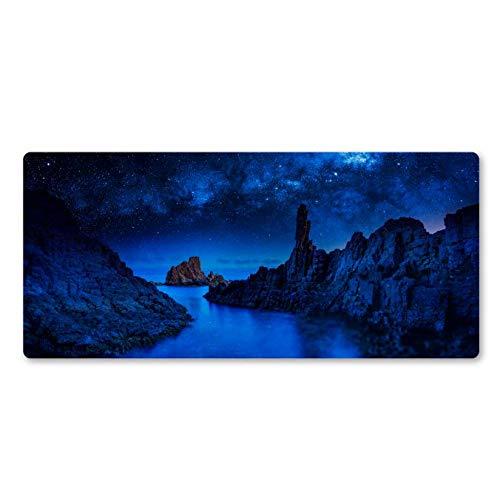Mooie nacht definitie natuurlijk rubber grote tafelset notebook computer spel muispad 30 * 80 cm