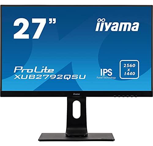 """iiyama XUB2792QSU-B1/27\""""IPS LED 2560x1440 black Desktop Monitor 68,5 cm (27 Zoll) LED schwarz"""