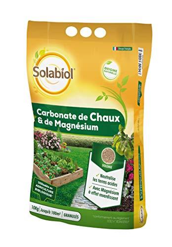 Solabiol SOCHAUX10 Carbonate De Chaux Et De Magnésium 10kg, Efficace