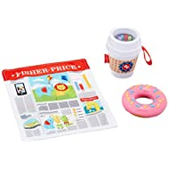 Fisher-Price On-The-Go Breakfast Gift Set, 3 take-Along Sensory Toys for Baby Ages 3 Months and Older