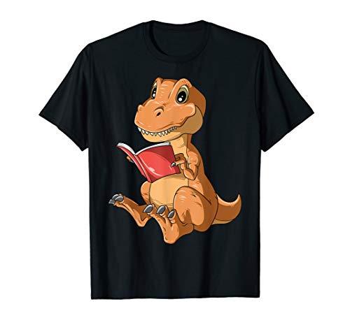 Dinosaur Reading Book Dino Reading Book Lovers Book Readers T-Shirt