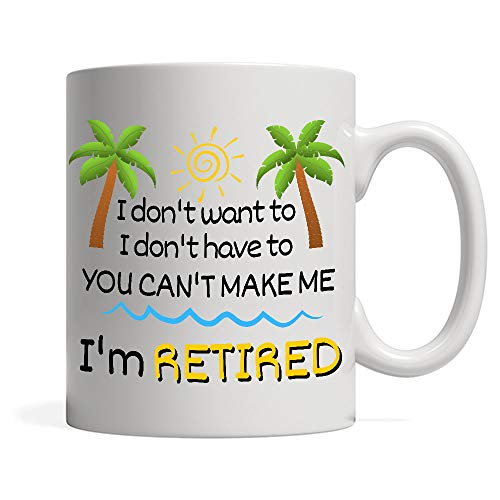 Funny Colorful I'm Retired Coffee Mug Retirement Gift Idea for Women Men Dad Mom Husband Wife Tea Cup Gag Gift for Coworkers Office & Family Retired Friends Unique Novelty Present for Party Christmas