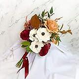 Ramo de novia de flores de papel, arreglo floral para decoración del hogar